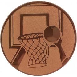 Emblemat samoprzylepny brązowy - koszykówka - D2-A8/B