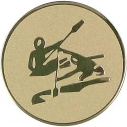Emblemat samoprzylepny złoty - kajakarstwo - D1-A17