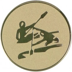 Emblemat samoprzylepny złoty - kajakarstwo - D2-A17
