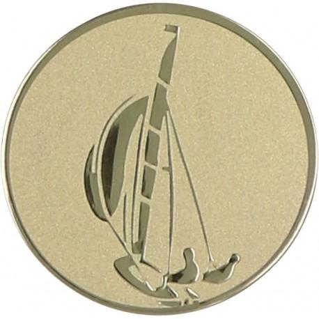 Emblemat samoprzylepny złoty - żeglarstwo - D1-A16