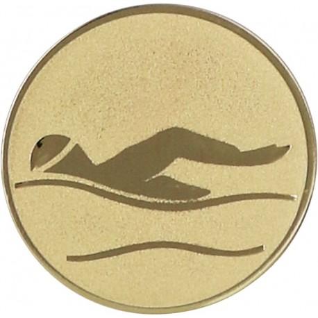 Emblemat samoprzylepny złoty - pływanie - D1-A9/G