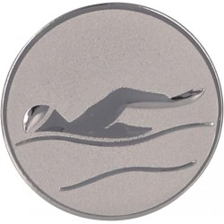 Emblemat samoprzylepny srebrny - pływanie - D1-A9/S