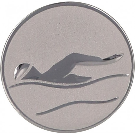 Emblemat samoprzylepny srebrny - pływanie - D2-A9/S