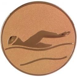 Emblemat samoprzylepny brązowy - pływanie - D1-A9/B