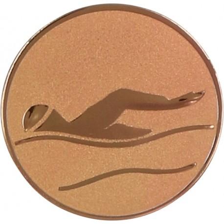 Emblemat samoprzylepny brązowy - pływanie - D2-A9/B