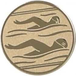 Emblemat samoprzylepny złoty - pływanie - D2-A10