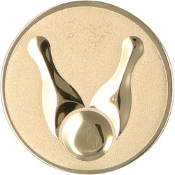 Emblemat samoprzylepny złoty - kręglarstwo- D1-A13