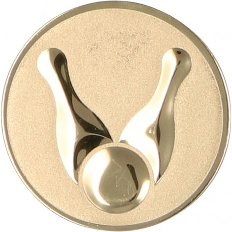 Emblemat samoprzylepny złoty - kręglarstwo- D2-A13