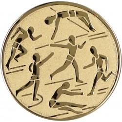 Emblemat samoprzylepny złoty - lekkoatletyka - D2-A29/G