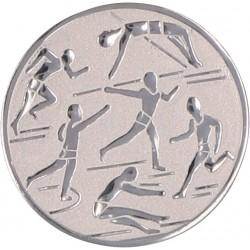 Emblemat samoprzylepny srebrny - lekkoatletyka - D1-A29/S