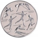 Emblemat samoprzylepny srebrny - lekkoatletyka - D2-A29/S
