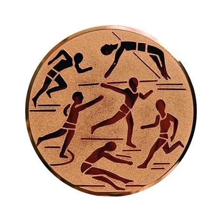 Emblemat samoprzylepny brązowy - lekkoatletyka - D1-A29/B
