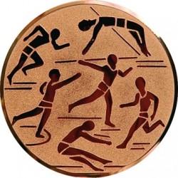 Emblemat samoprzylepny brązowy - lekkoatletyka - D2-A29/B