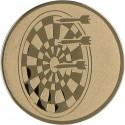 Emblemat samoprzylepny złoty - rzutki / dart - D1-A21