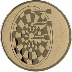 Emblemat samoprzylepny złoty - rzutki / dart - D2-A21