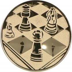 Emblemat samoprzylepny złoty - szachy - D1-A22