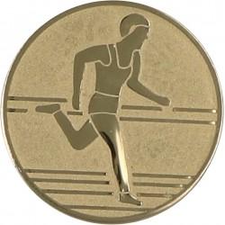 Emblemat samoprzylepny złoty - lekkoatletyka / biegi - D1-A30