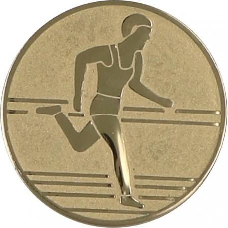 Emblemat samoprzylepny złoty - lekkoatletyka / biegi - D2-A30