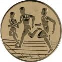 Emblemat samoprzylepny złoty - lekkoatletyka / biegi - D1-A32/G