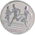 Emblemat samoprzylepny srebrny - lekkoatletyka / biegi - D2-A32/S