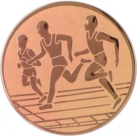 Emblemat samoprzylepny brązowy - lekkoatletyka / biegi - D1-A32/B