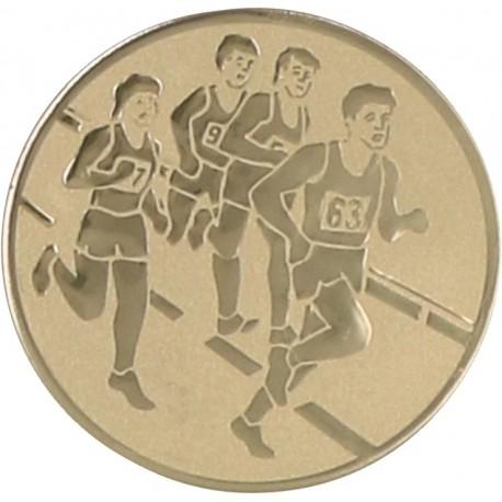 Emblemat samoprzylepny złoty - lekkoatletyka / biegi - D2-A33