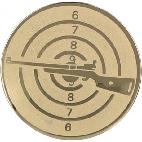 Emblemat samoprzylepny złoty - strzelectwo - D1-A50