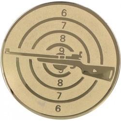 Emblemat samoprzylepny złoty - strzelectwo - D2-A50