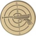 Emblemat samoprzylepny złoty - strzelectwo - D1-A51