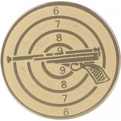Emblemat samoprzylepny złoty - strzelectwo - D2-A51