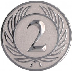 Emblemat samoprzylepny srebrny - D1-A37