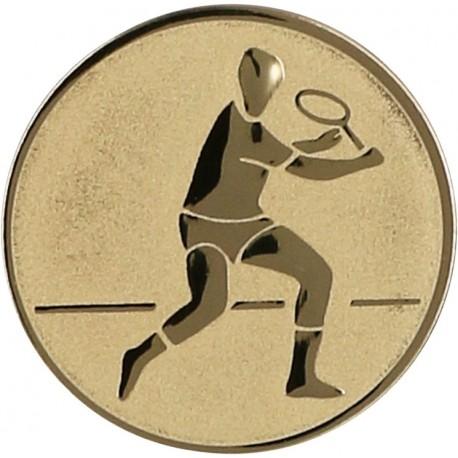 Emblemat samoprzylepny złoty - tenis ziemny - D1-A43