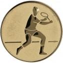Emblemat samoprzylepny złoty - tenis ziemny - D2-A43