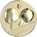 Emblemat samoprzylepny złoty - tenis stołowy - D1-A46/G