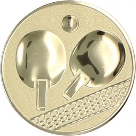 Emblemat samoprzylepny złoty - tenis stołowy - D2-A46/G