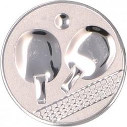 Emblemat samoprzylepny srebrny - tenis stołowy - D1-A46/S