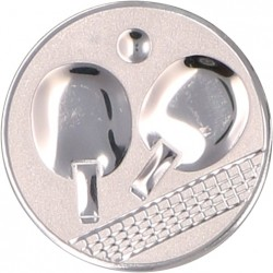 Emblemat samoprzylepny srebrny - tenis stołowy - D2-A46/S