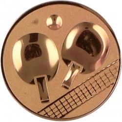 Emblemat samoprzylepny brązowy - tenis stołowy - D1-A46/B