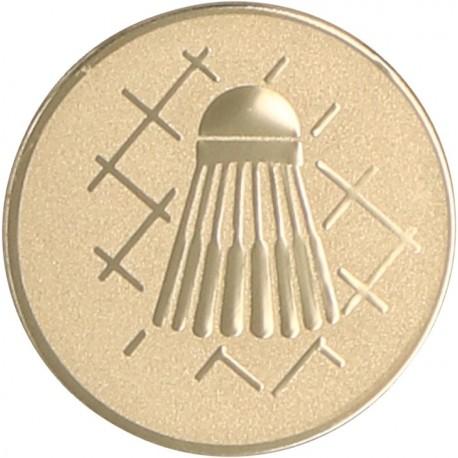 Emblemat samoprzylepny złoty - badminton - D1-A45