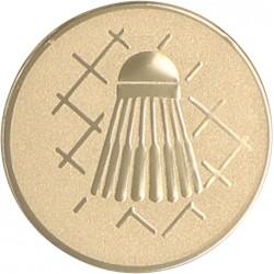 Emblemat samoprzylepny złoty - badminton - D2-A45