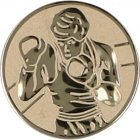 Emblemat samoprzylepny złoty - boks - D1-A57