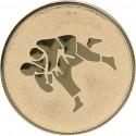 Emblemat samoprzylepny złoty - judo - D1-A59