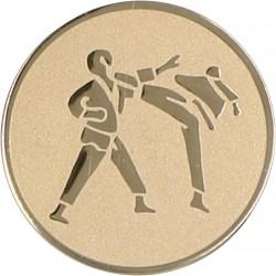 Emblemat samoprzylepny złoty - karate - D1-A60