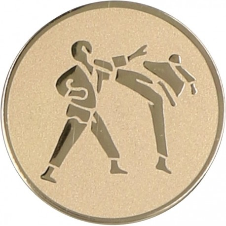 Emblemat samoprzylepny złoty - karate - D2-A60