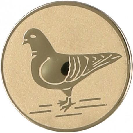 Emblemat samoprzylepny złoty - gołębiarstwo - D1-A64