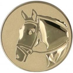 Emblemat samoprzylepny złoty - jeździectwo - D1-A71