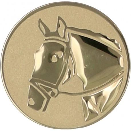 Emblemat samoprzylepny złoty - jeździectwo - D2-A71