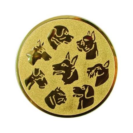 Emblemat samoprzylepny złoty - psy - D1-A76