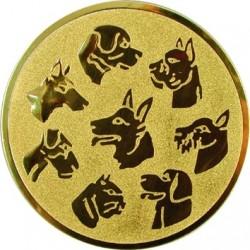 Emblemat samoprzylepny złoty - psy - D2-A76
