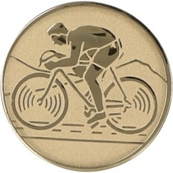 Emblemat samoprzylepny złoty - kolarstwo - D1-A99